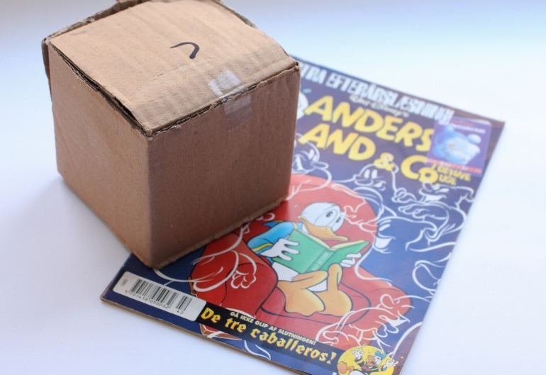 Want unique gift wrapping ideas? Use old comic books as wrapping paper for small sized gifts
