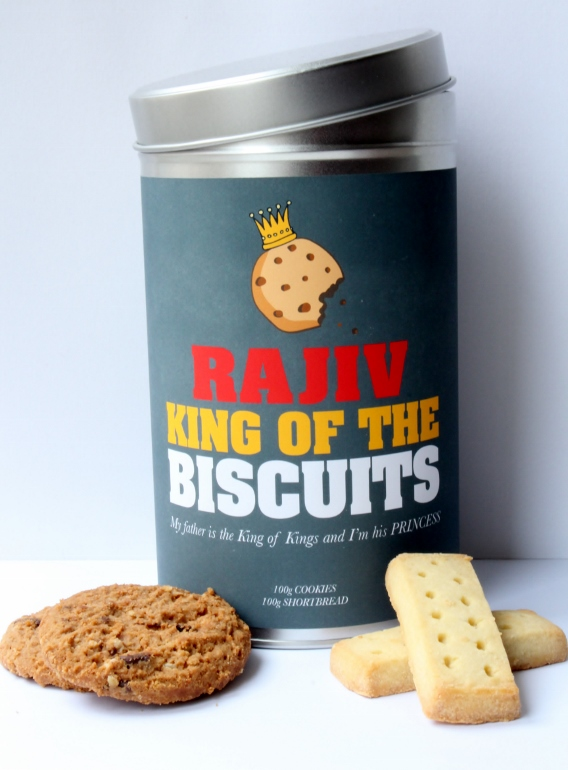 Personalised biscuit tin for fathers day