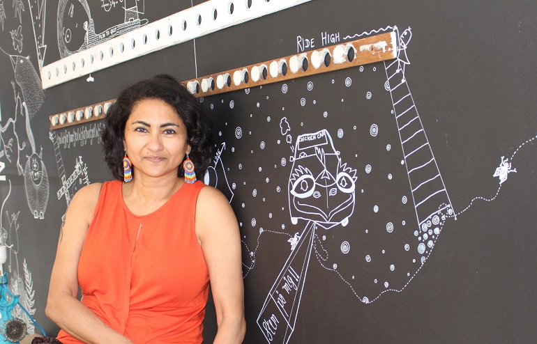 Priya Zachariah is the founder of Ma'Mela studio