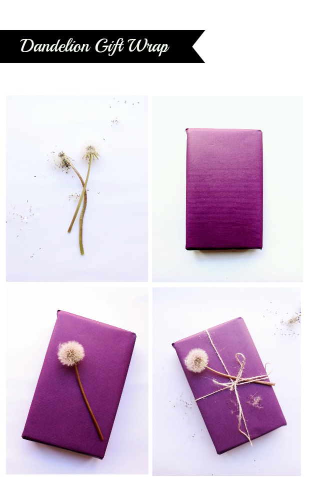 try dandelion wishes with this creative gift wrapping idea