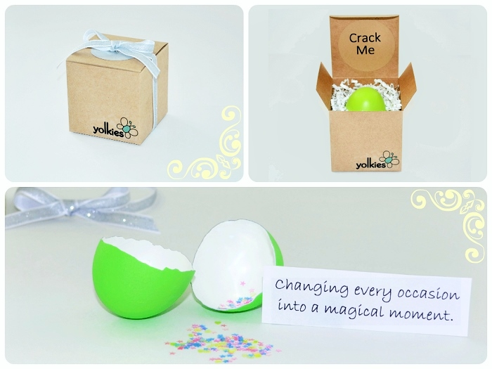 Yolkies - a fun gift to celebrate special occasions