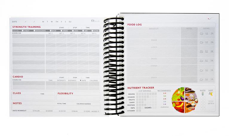 Fitbook is a food and nutrition journal cum planner
