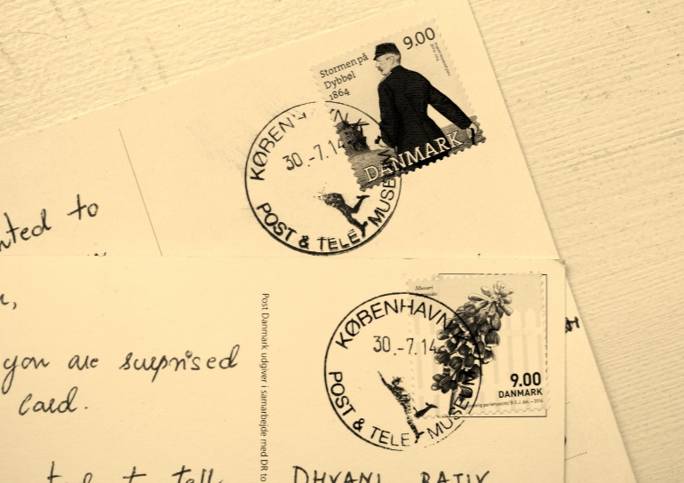 Postcard from Post & Tele Museum in Copenhagen, Denmark