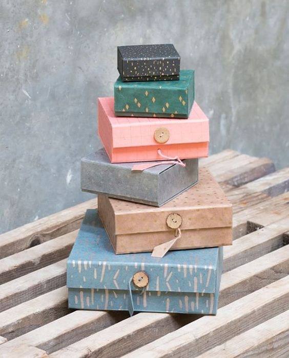 recycled gift boxes from Sostrene Grene