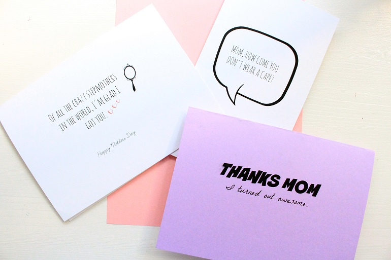 Free printable: Funny Mothers Day cards