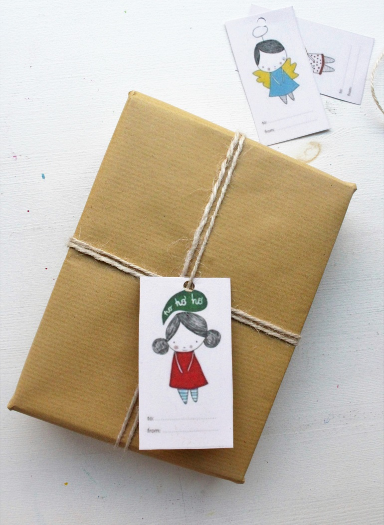 Christmas gift tags and gift wrapping ideas