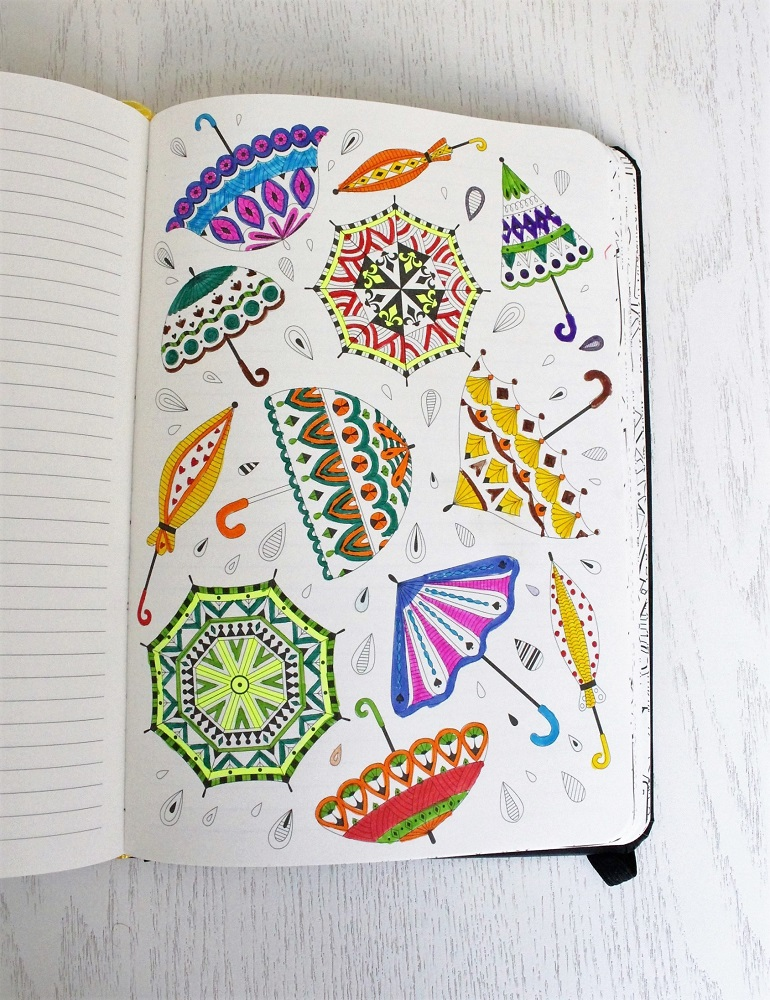 colouring notebooks are a good gift idea for stationery lovers
