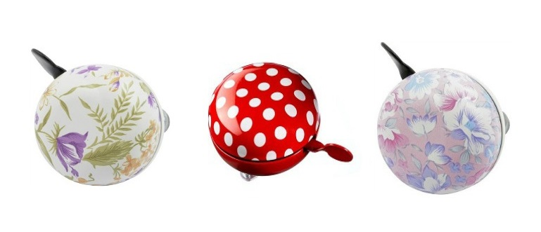 floral bicycle bells in our top 10 bike accessories