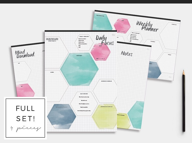 daily and weekly planners and calendars to get your life organized