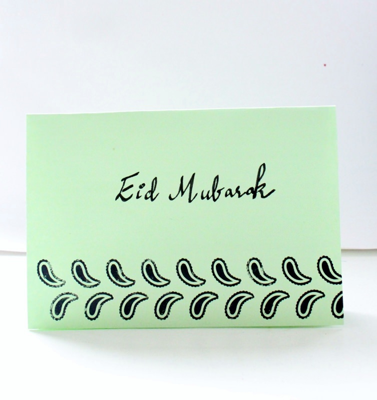 DIY idea for handmade Eidd cards