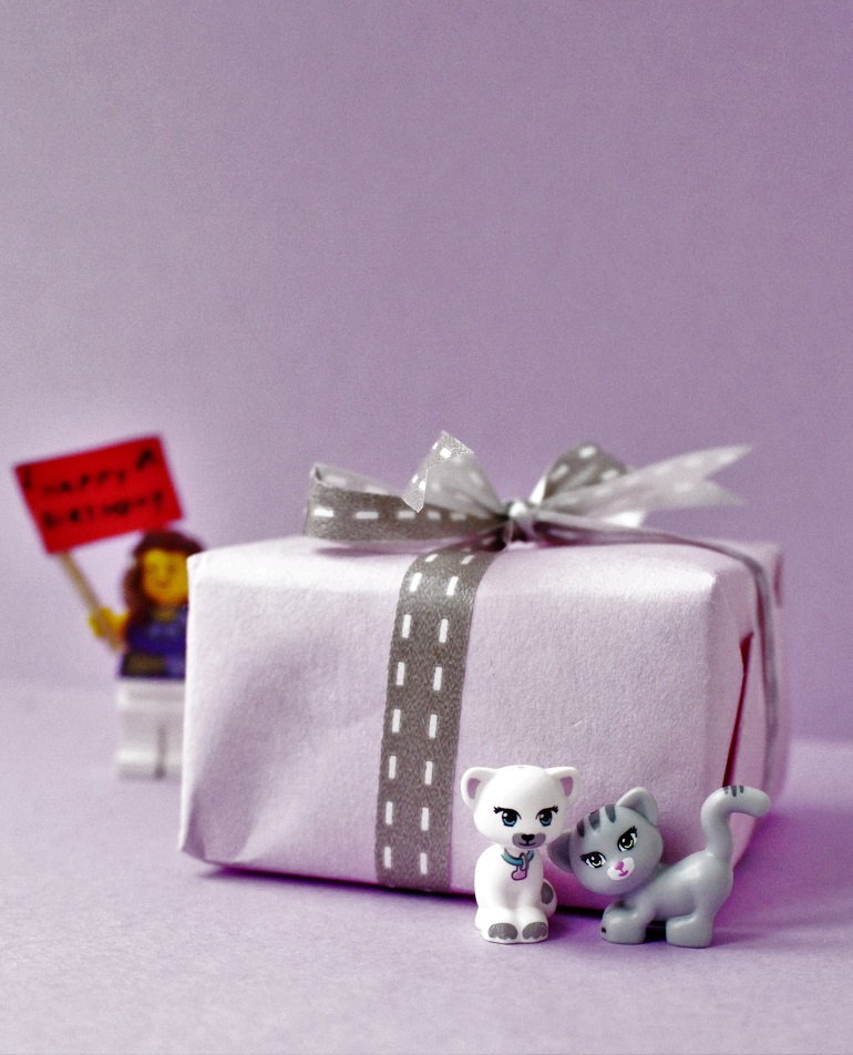 Lego Friends gift wrap for kids