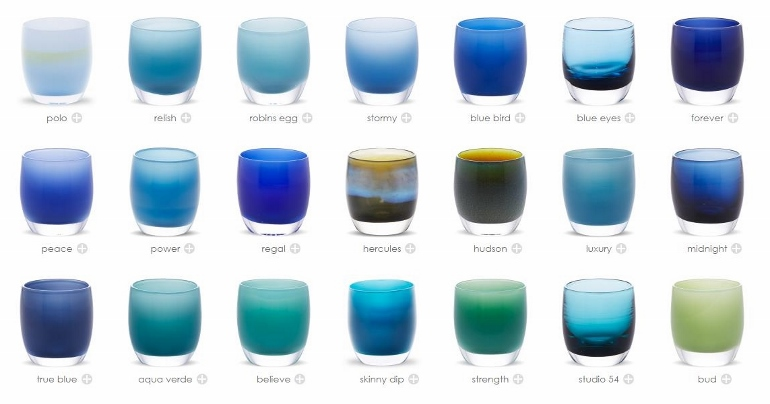 christmas gifts made in the USA, glassybaby candles