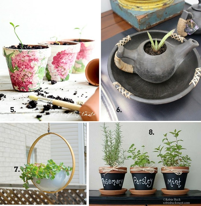 spring crafts and DIY planters