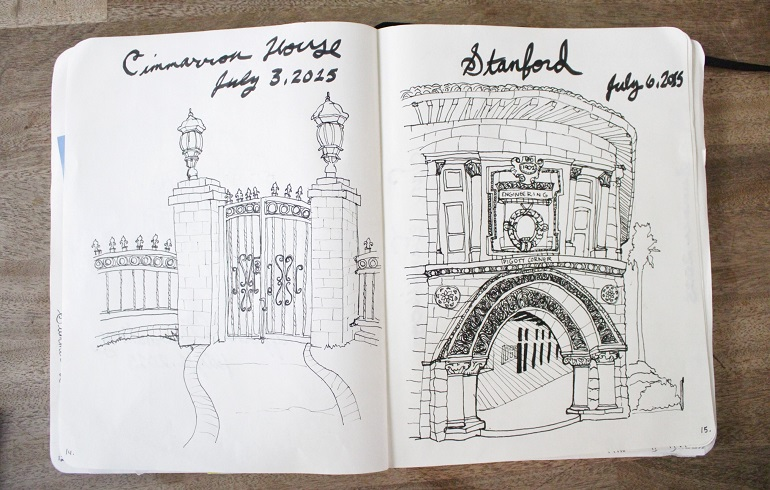 sketching historical buildings through observation