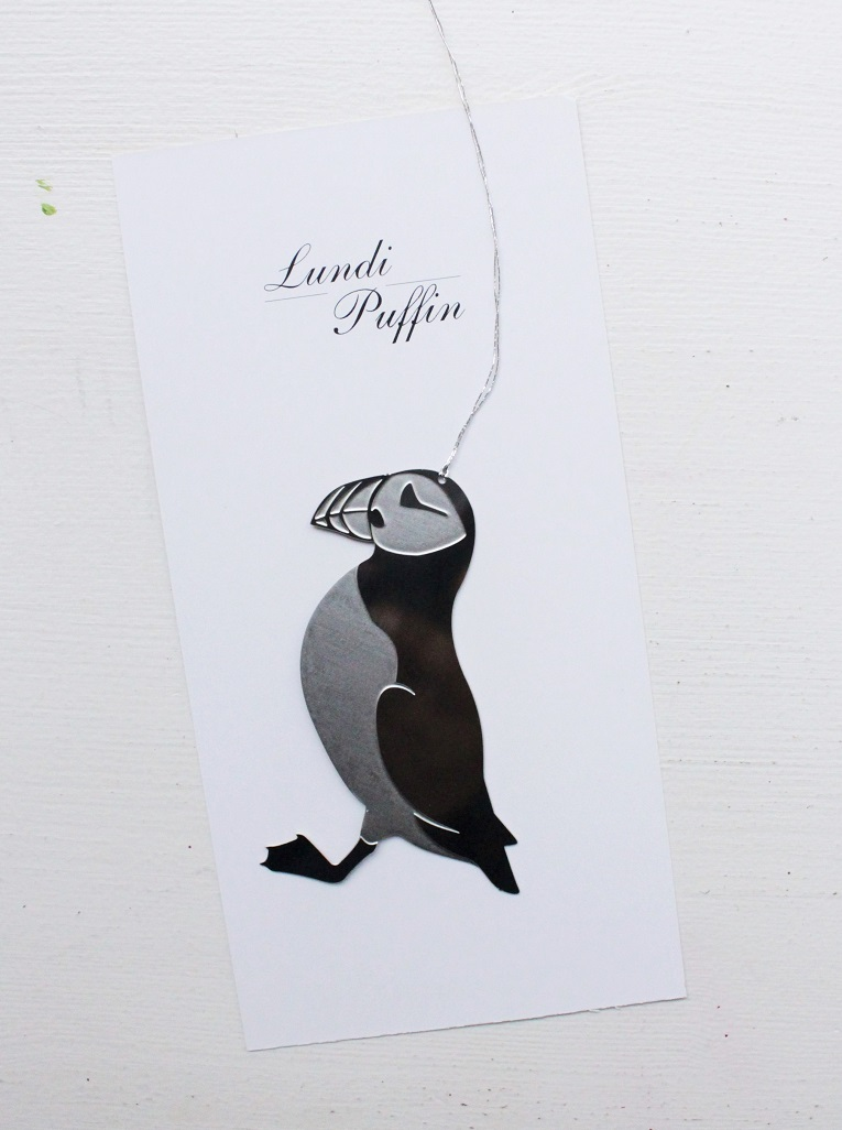 Icelandic puffin decoration