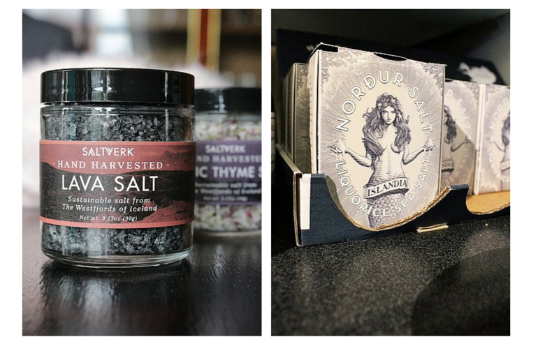 black lava sea salt is a good icelandic souvenir to take back home
