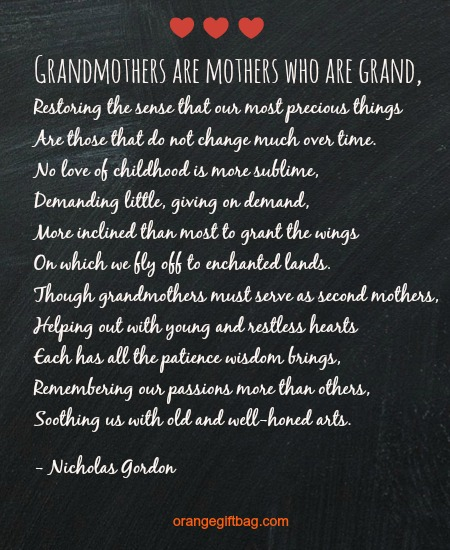 this is a special mothers day poem for grandmothers